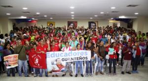 Educadores de Guanta ratifican su apoyo al Prof. Aristobulo Isturiz